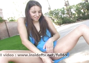 Michelle _ Amateur babe masturbating her pussy everywhere orgasm outdoors
