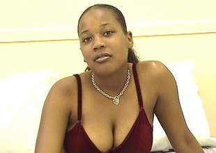 Ebony spoil with big pair uses vibrator on will not hear of cunny
