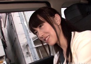 Petite Japanese coed sits at bottom his dick with the addition of goes for a ride