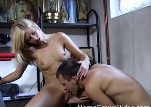 Hot anal creampie for a cute slut with sexy snug tits
