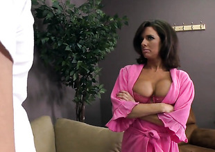 Johnny Sins cant wait lower-class longer more stick his boo-boo in glamorous Veronica Avluvs mouth
