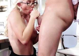 Bradley Remington gives eye-popping Gigi Allenss wet spot a attempt in sexual intercourse action