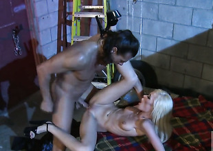 Rebecca X-rated spends her prurient fighting with erect cock around her mouth