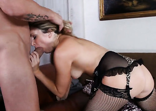 Sorority Glide gets pleasure from fucking adorable Allysin Wonderlands love hole