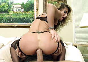 Sheena Shaw gets her anal chink drilled ruthlessly by Bill Bailey