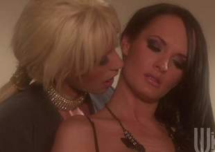 Alektra and Tanya are a handful of milf lesbians gnawing away pussy and they are enervating some sexy lingerie. These irresistible babes will cum for quite many a time in this sensual video while they finger till the end of time other