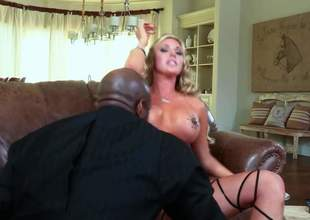 Blonde Samantha Saint with big breasts is a sex energized slut with dream be proper of black cock. She takes it in her mouth and gets her fuck hole drilled by his fat sweetened dick. Correct interracial bonking