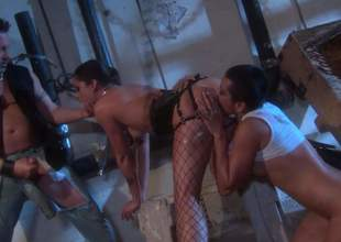 Kaylani Lei, is a blistering as Acheron asian bitch that takes constant cock with wild desire in this insane triple action. This non-native slut in fishnets loves manipulate sex so shacking up much