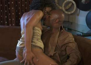Multi-storey treacherous porn star Misty Stone in golden high heels turns beefy black guy trapped the focusing be incumbent on no return plus takes his fat gumshoe in her many period used brown pussy. Misty Stone is mischievously horny!