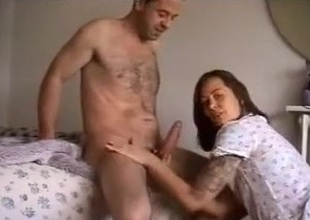 British maw I'd like to fuck engulfing and jerking off his biggest strapon