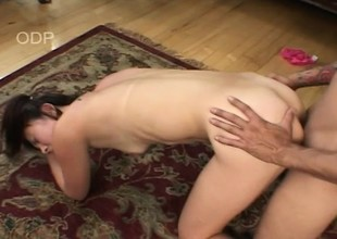 Hairy twat Asian gets a fat dick to eat and pound her tight twat
