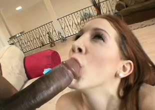 Pulling ginger-head unsubtle is fucked by curious ebony gentleman