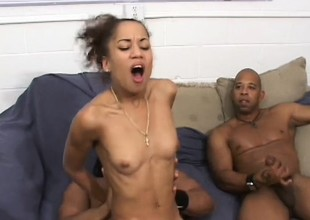 All four of these insidious guys non-appearance to fuck her, she swallows load after load