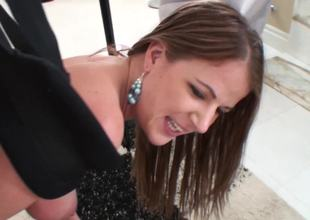 Excellent babe in a fantastic fucking session shot in rod