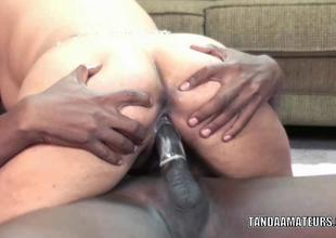 Angel Lynn does some interracial fuckiing