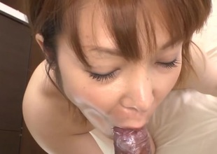 Hawt Oriental in upskirt charms with reverse anal riding