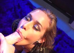Kennedy Leigh giving a bj in a night club