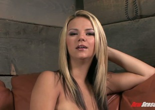 Fair-haired Ashlynn Brooke pounded in her superb twat