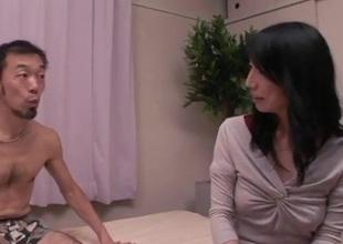 Yukari brunette Japanese gets pumped in rough initiative