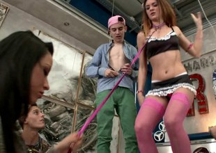 Wild costume party turns purchase a full blown hardcore orgy