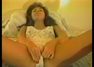 Anorectic cougar in stockings anal toys before being docile cowgirl style