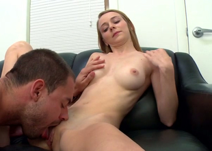 Naughty blonde damsel Ava Hardy gets some nice pussy licking