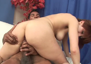 Short haired harlot Vikki ass fucked at the end of one's tether a sizzling diabolical dude