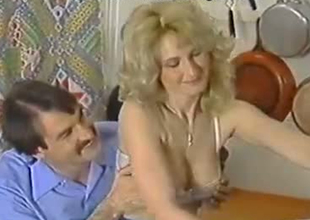 Freaky European cuckold shares his wife Lili Marlene close by his collaborate