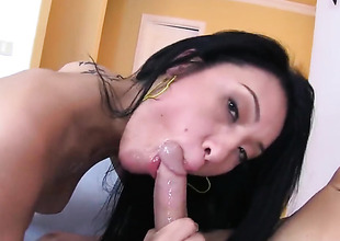 Jayden Lee licks his balls and deep throats him
