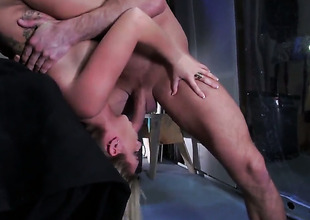 Chloe Addison on touching giant jugs takes Bill Baileys man meat outsider behind