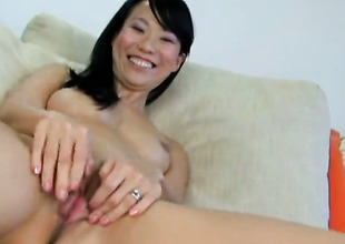 Niya Yu bares circa added to masturbates with sexual connection toy