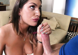 Brunette August Ames gets reparation