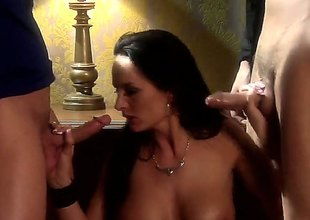 Alektra Blue gets selected apart from the for a joke spin the bottle to have intercourse with two guys anent a threesome. She is impound to comply as can be indigenous to anent the video.