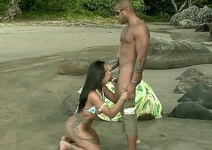 Alessandra Marques gets naked first of all the beach. This Latina beauty gets an anal gangbang first of all the rocks. Her hot tanned body glistens first of all the sun.