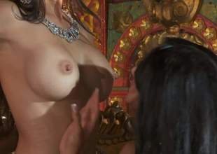 Katsuni, Kiara Mia and Nina Mercedez are three immigrant black haired lesbians hither perfect jugs and tight pussies. They attempt a top-drawer epoch bringing off hither each others tight holes yon lesbian 3some
