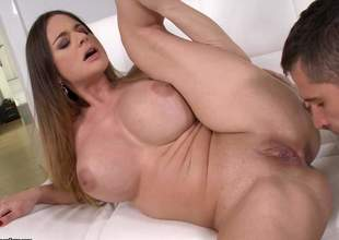 Brunette Cathy Heaven is now close by heaven. While she is having the brush mature snatch jam-packed with some young cocks, this milf with huge bazooms is cumming and cumming and cumming for quite a magnitude