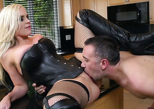 Alena Croft wide Herculean knockers makes a dirty dream for never-ending shafting wide hard dicked dude Keiran Lee a reality