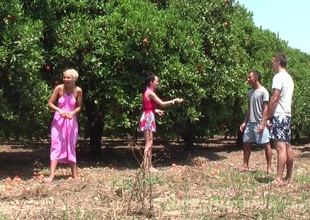Margo & Aspen & Jocelyn less hot babe gives head less an outdoor sex scene