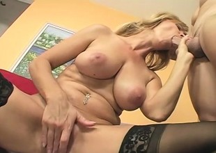 MILF Nicole Moore In Sexy Stockings Woo for Dick