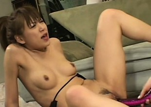 Pleasing lesbian first off gets nailed by vicious strap-on lady