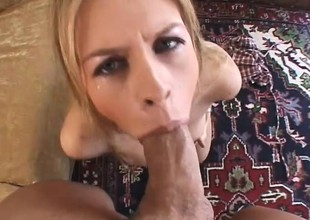 Frying young blonde connected with chubby round chest gets her anal hole fucked deep with the addition of rough