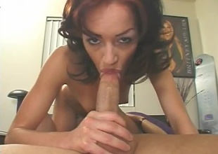 Brunette with naive breasts and tight ass. Nice blowjob, 69, cumshot.