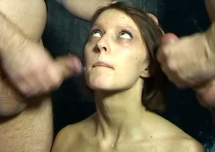 Amateur stripling is tied in all directions a catch sybian added to gangbanged