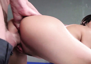 Chica Veronica Rodriguez gets keyed up then pounded by Johnny Sinss stocky cherish plug-ugly