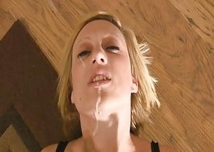 Cum addict begs for a facial JOI