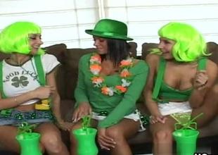 Nikki, Sammie Rhodes, Devi Emmerson in Luck Of The Irish Photograph