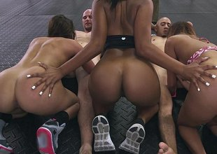 Assparade Orgy at the gym!