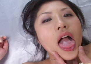 Sweltering Japanese Immature Model Begs For