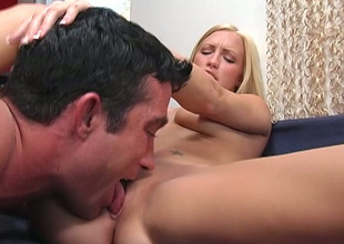 Chesty long haired blondie takes unending monster dick in twat for hot ride