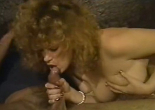 Ultra scalding blonde in the matter of obese racy knockers gets fucked in the ass hard